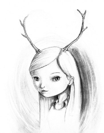 Lily Fawn, drawing by Chris Dow