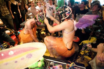 Gobble Gobble @ Tubby Dog - sweaty helmet banging chaos by Steve Louie
