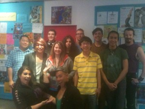 The Youth Broadcasters with the OutGames broadcasting team from CiTR (missing Jazmine Khan)