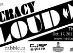 Democracy Loud Fundraiser features local bands. Photo courtesy of Media Democracy days.