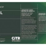 CiTR April Workshops!