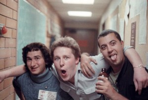 Ethan Minovitz, Steve Robertson and Patrick Mokrane in the halls of CiTR, circa 1986.