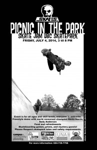 UBC Skate Jam Poster