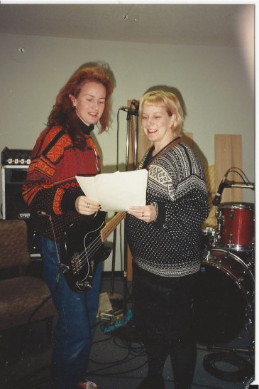 Infrädig in the recording studio || photo by Lynda Leonard
