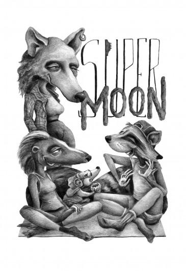 Supermoon || illustrated by Jenna Milstrom