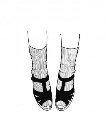Les Chaussettes || illustration by Alison Sadler