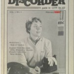 The very first issue of Discorder Magazine,  published February 1983.