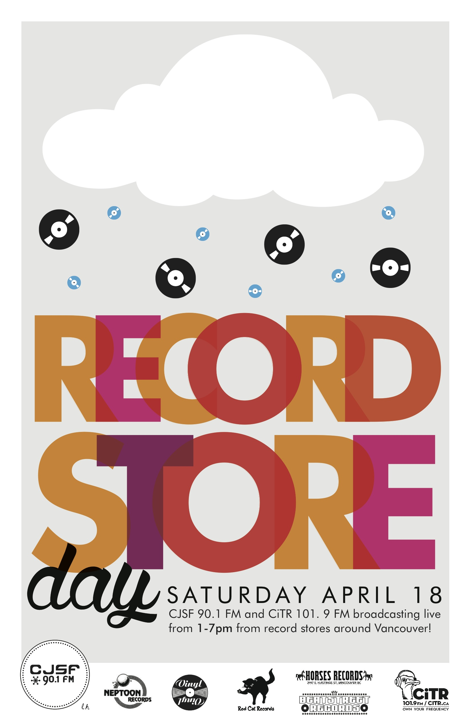 cjsf - poster record store day 2015 - apr 8