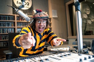 Nardwuar in Studio A med res