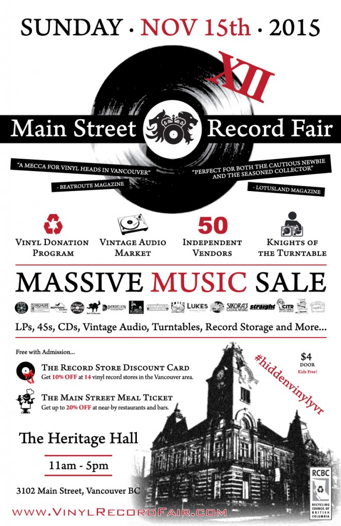 main street vinyl record fair