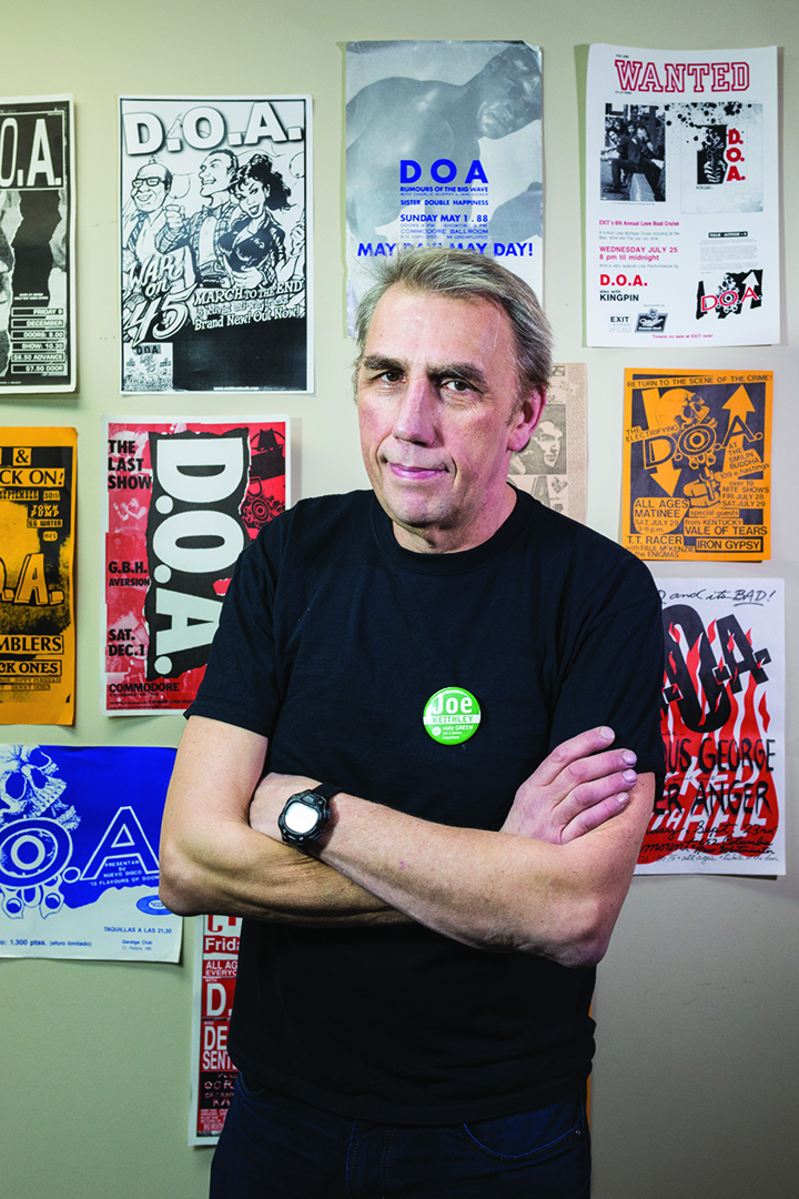 Joe Keithley    Photo by Jon Vincent for Discorder Magazine