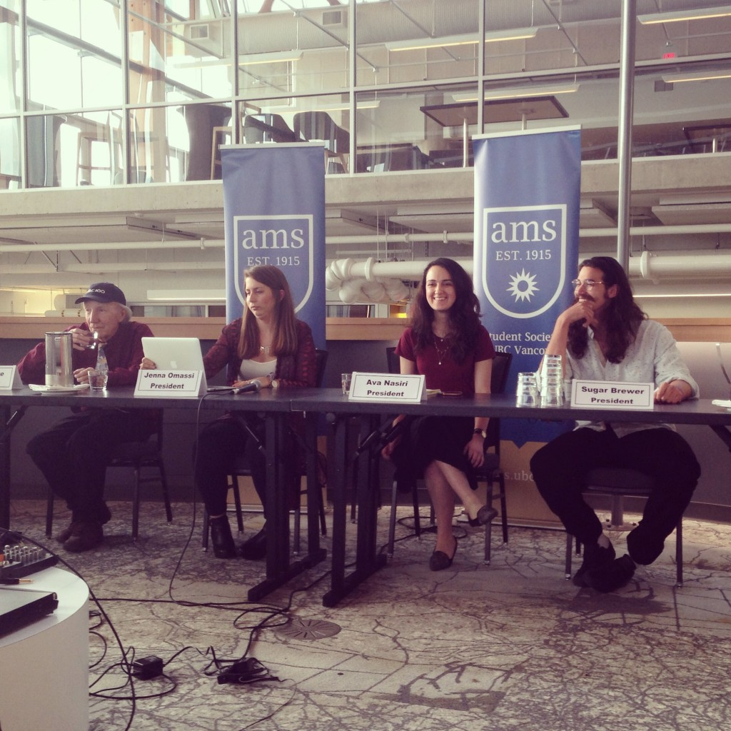 AMS presidential candidates at the first debate