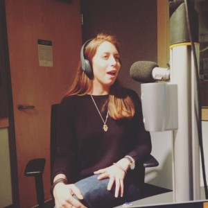 AMS presidential candidate Jenna Omassi in studio
