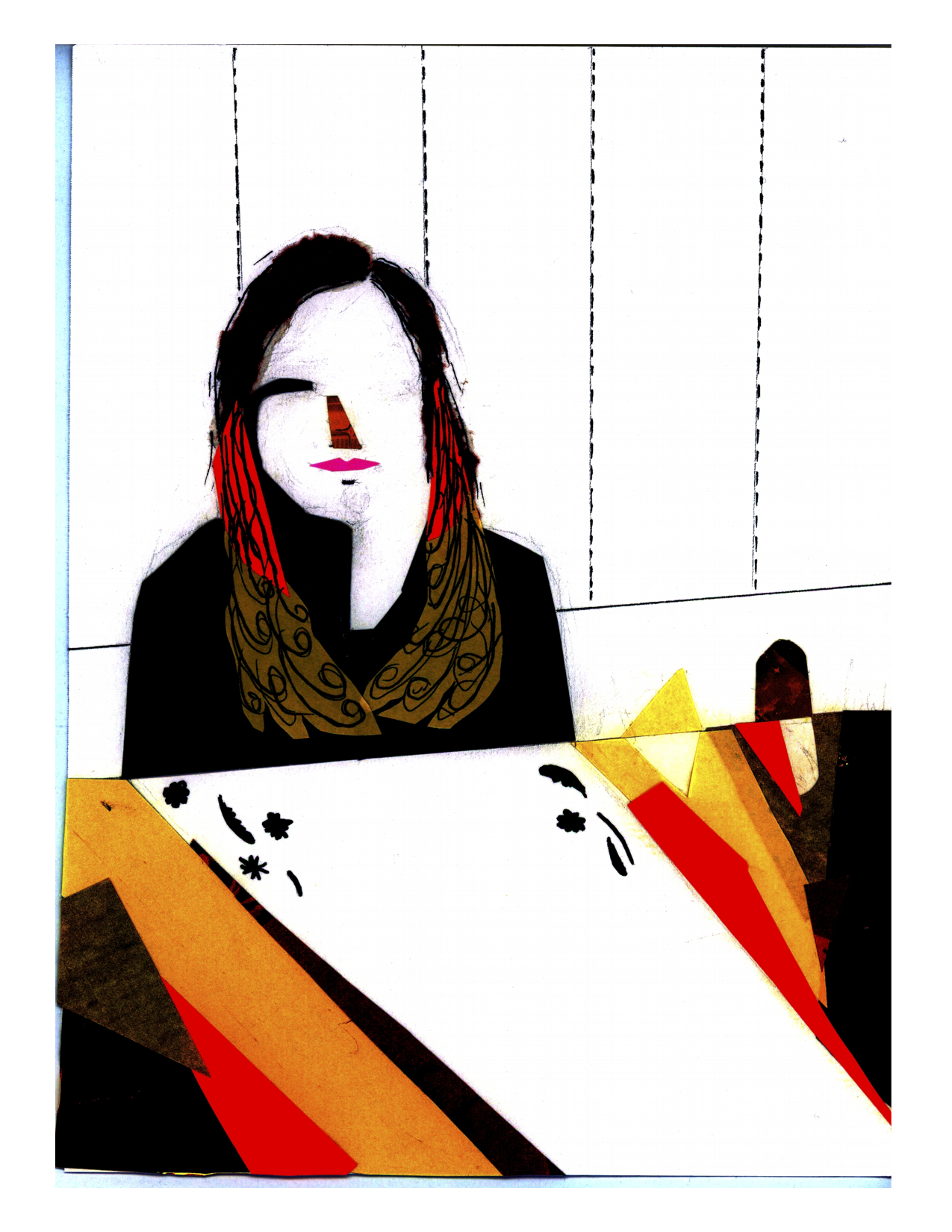 Ashley Shadow || Illustration by Alisa Lazear for Discorder Magazine