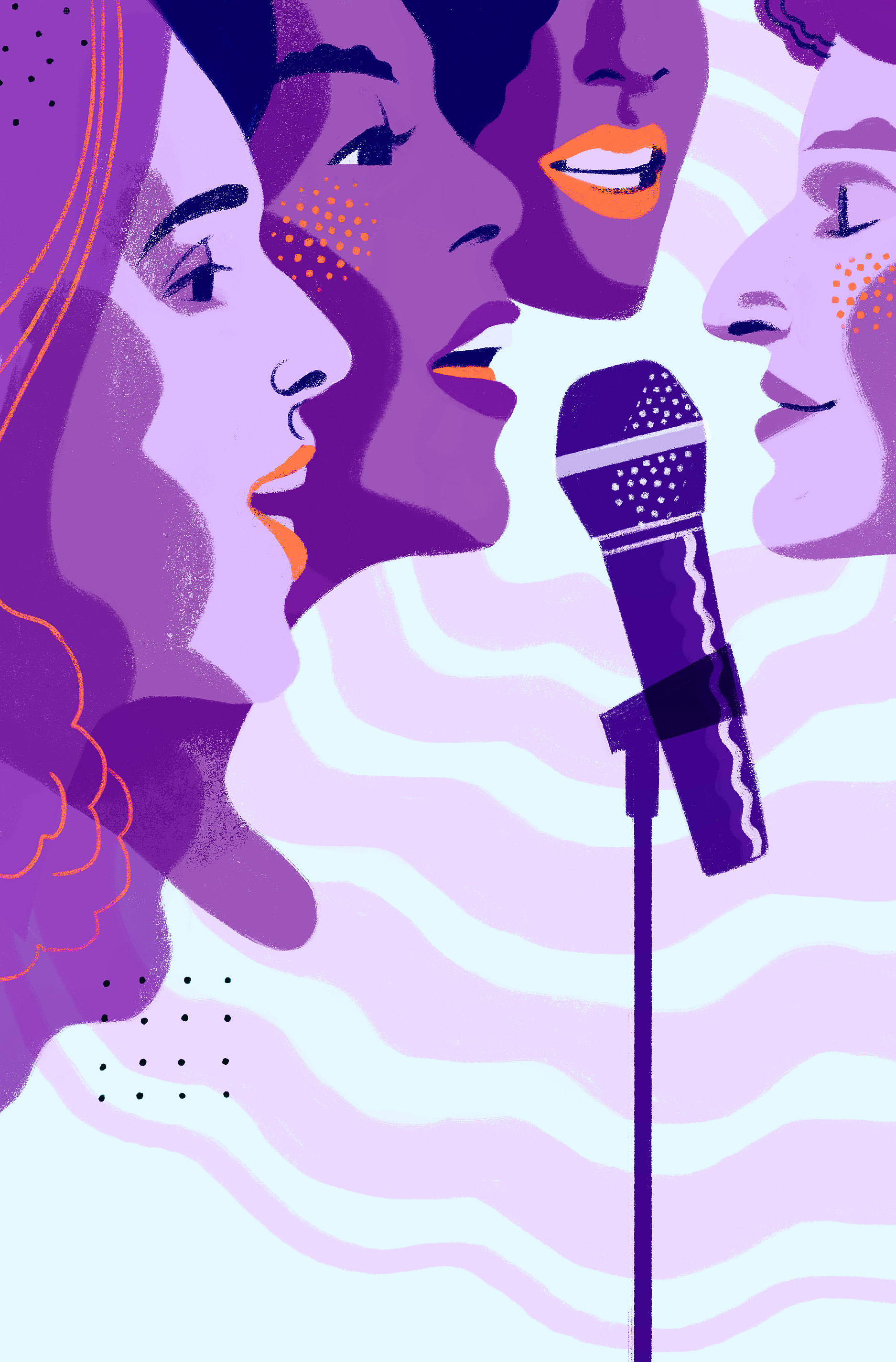 Karaoke at Pub 340 || Illustration by Cristian Fowlie for Discorder Magazine