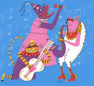 Pretty Good Not Bad Festival || Illustration by Eugenia Viti for Discorder Magazine