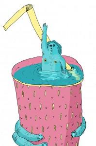 Les Chaussettes    Illustration by Olga Abeleva for Discorder Magazine