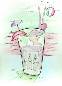 Gal Gracen    Illustration by Kolton Proctor for Discorder Magazine
