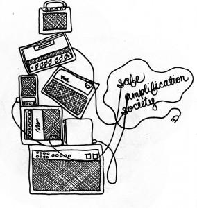 Safe Amp Society    Illustration by Emma Potter for Discorder Magazine