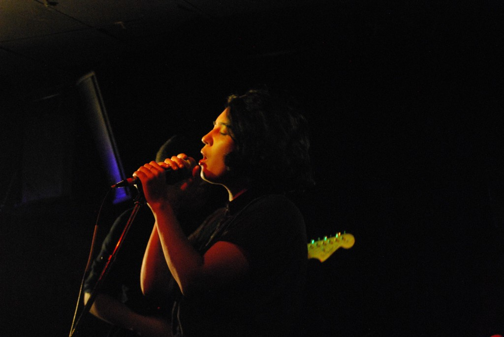 The lead singer of Mire•poix serenading Shindig 33 Night 6 // Photo courtesy of Dora Dubber