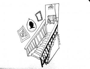 The James Black Gallery    Illustration by Sofia Shamsunahar for Discorder Magazine