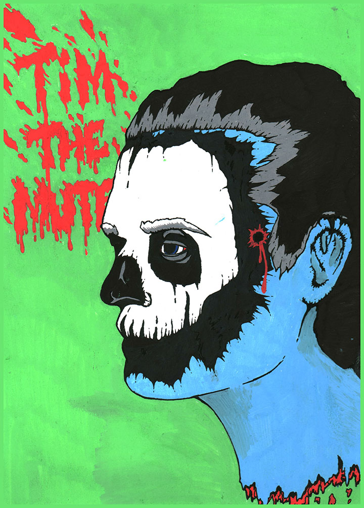 Tim The Mute   Illustration by Rory Stobart for Discorder Magazine