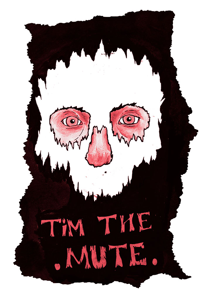 Tim The Mute | Illustration by Rory Stobart for Discorder Magazine
