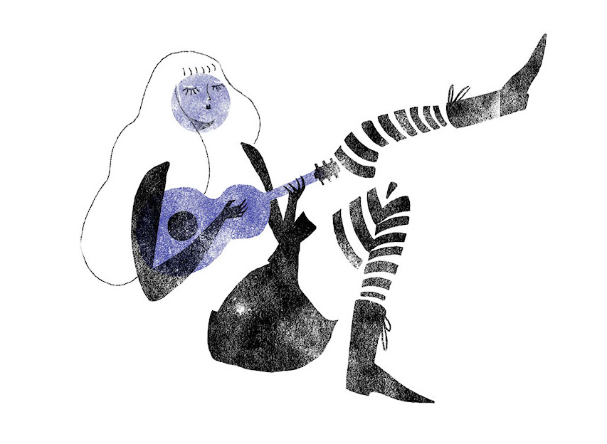 How To Play Shows In America Without Going Broke First || Illustration by Julia Iredale for Discorder Magazine