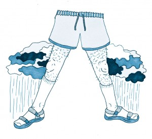 Dad Thighs || Illustration by Taryn Cowling for Discorder Magazine