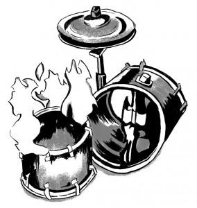 Music Waste || Illustration by Fiona Dunnett for Discorder Magazine