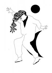 The Sun & The Moon    Illustration by Dana Kearley for Discorder Magazine