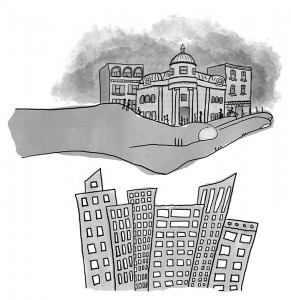 Gentricide    Illustration by Katie Lapi for Discorder Magazine