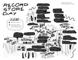 Record Store Day || Illustration by Sharon Ko for Discorder Magazine