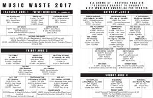 MusicWaste_Schedule_June2017