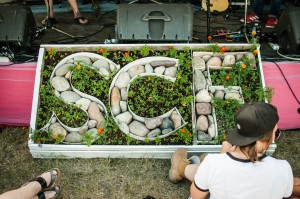 SCF garden at the front of East Stage || Photography by Luis E. Busca for Discorder Magazine