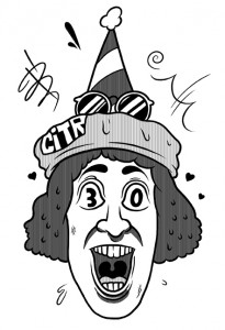 Nardwuar || Illustration by James Mackenzie for Discorder Magazine