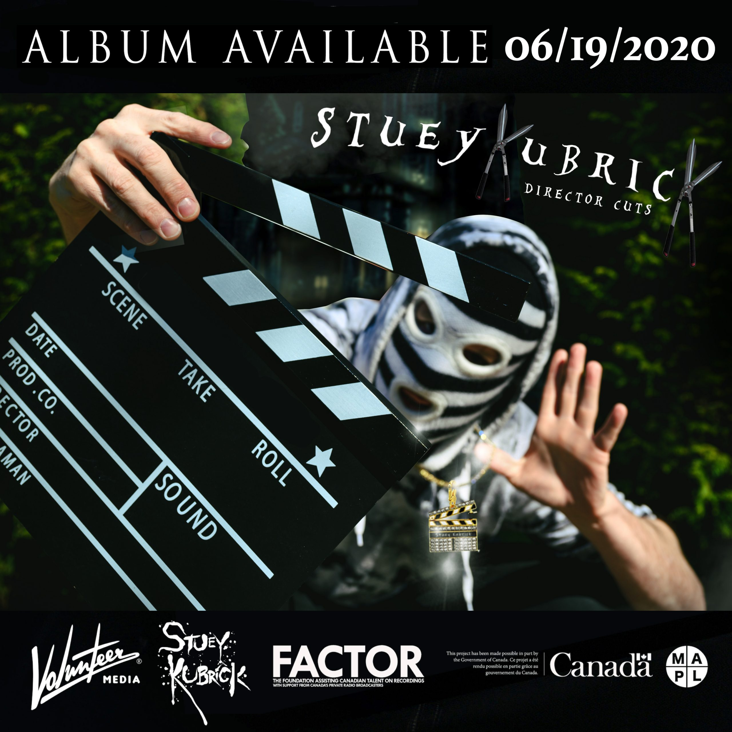 Stuey Kubrick Director Cuts Album Available June 19 2020