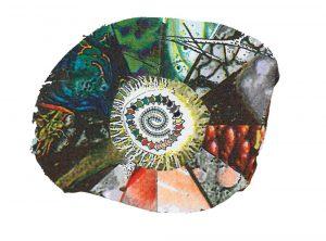 pinwheel shaped illustration by Sunny Nestler